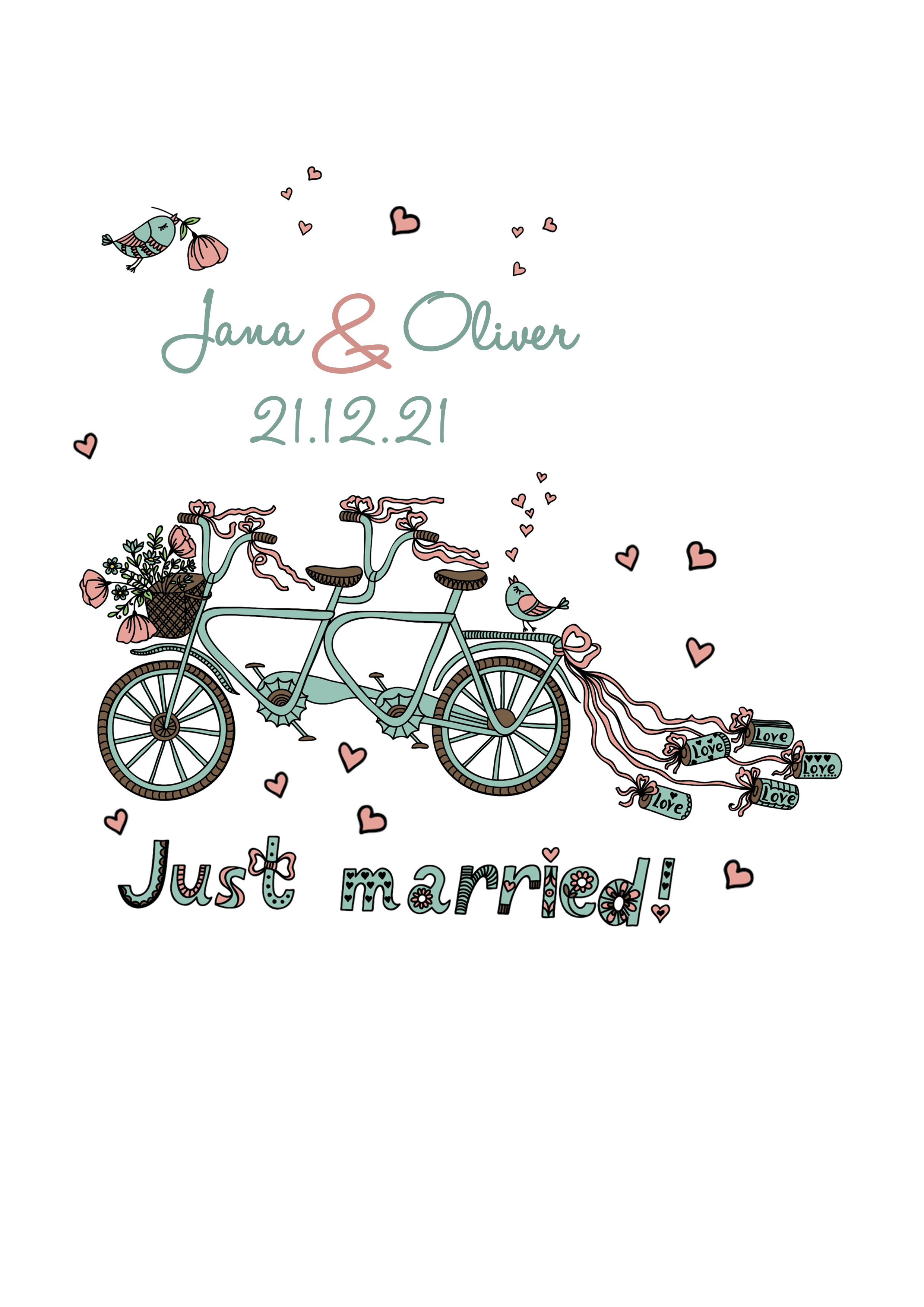Hochzeitskerze Fahrrad