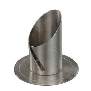 Kerzenleuchter/-Halter silberfarben für lange dünne Kerzen 4cm Durchmesser
