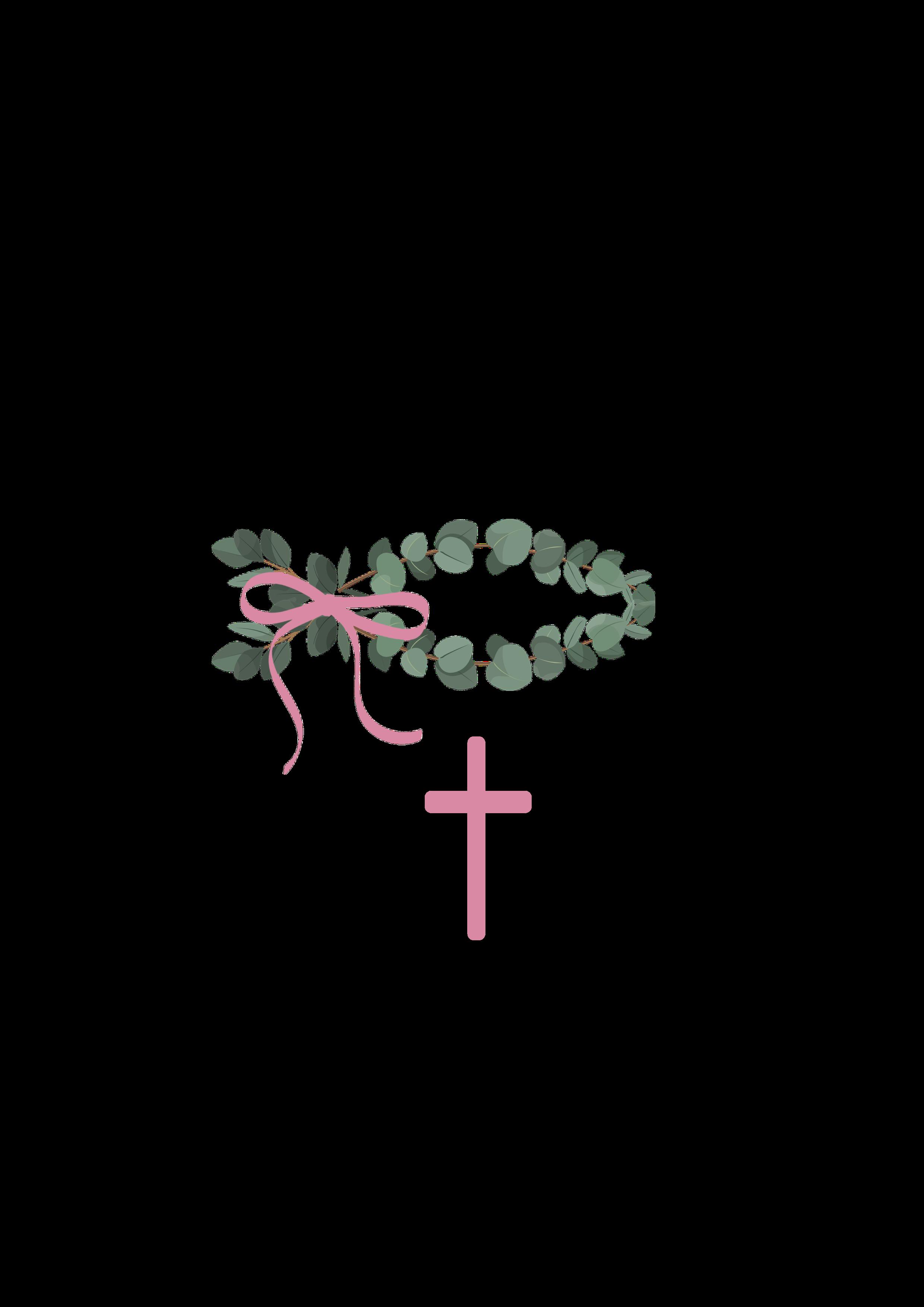 Fisch Eukalyptus rosa Motiv 283