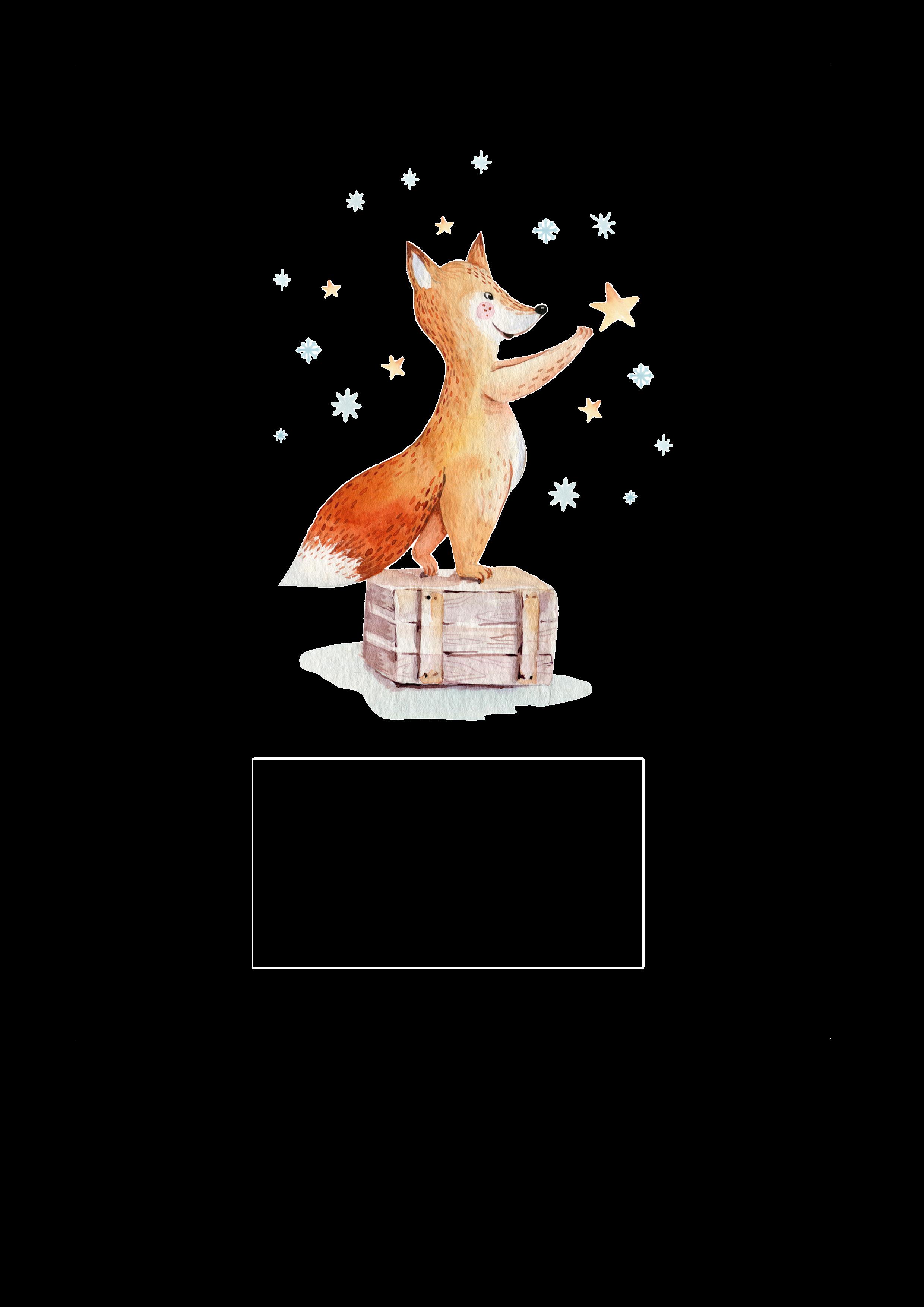 Kerze Fuchs greift nach den Sternen