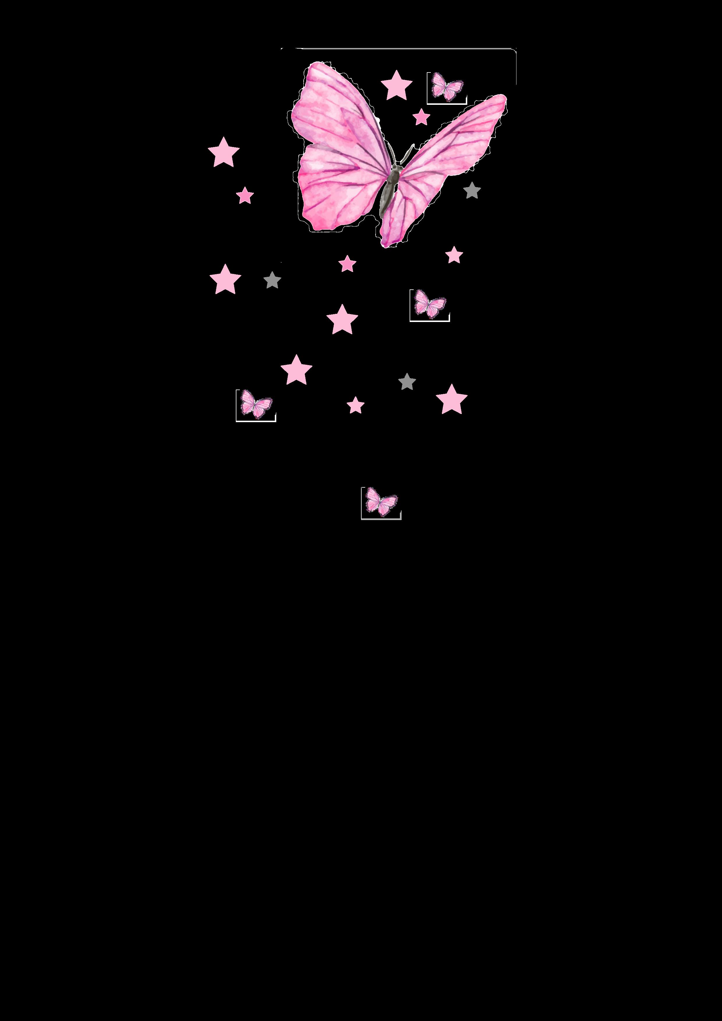 Kerze Schmetterling rosa