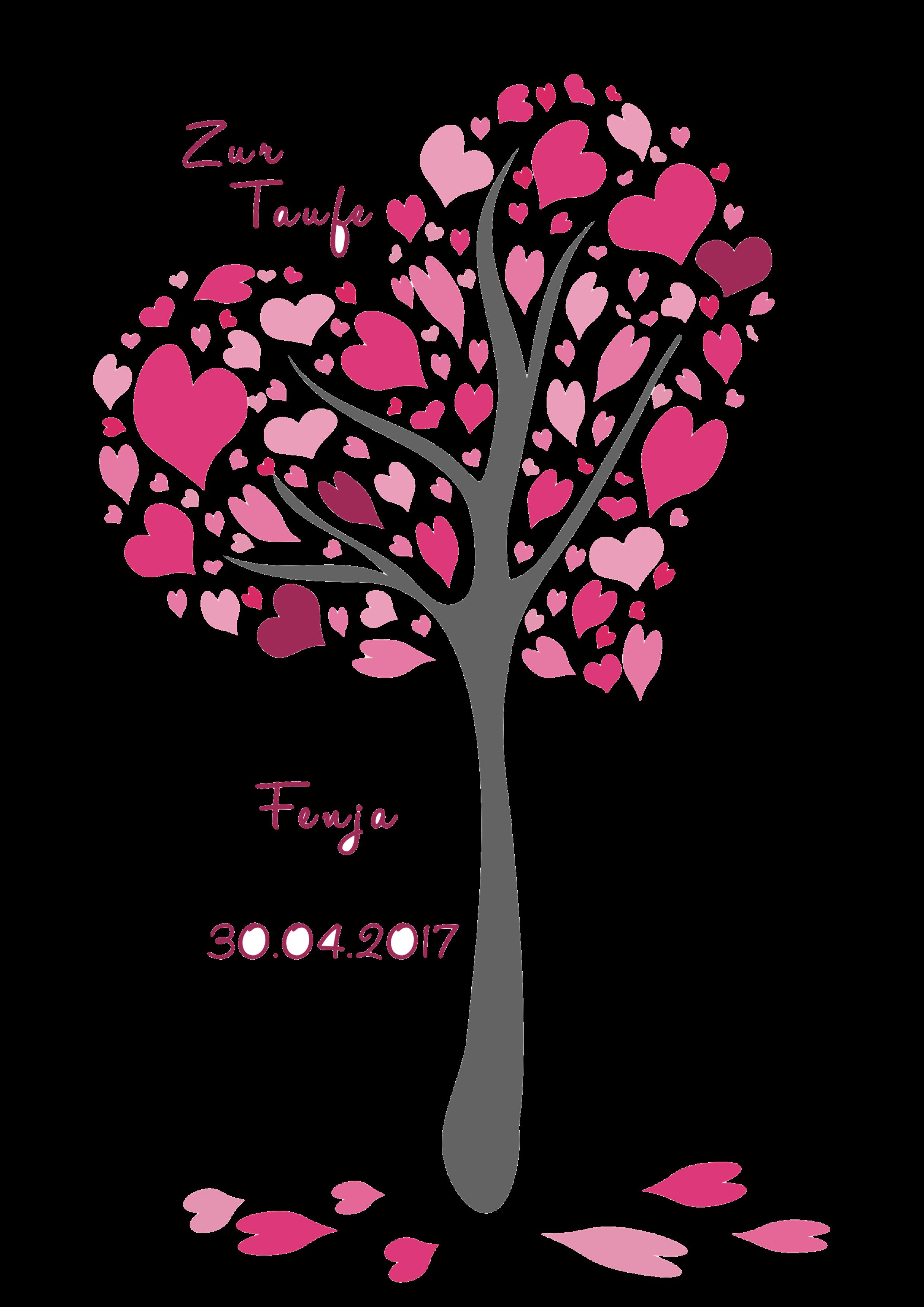 Kerze Herzchenbaum rosa-pink