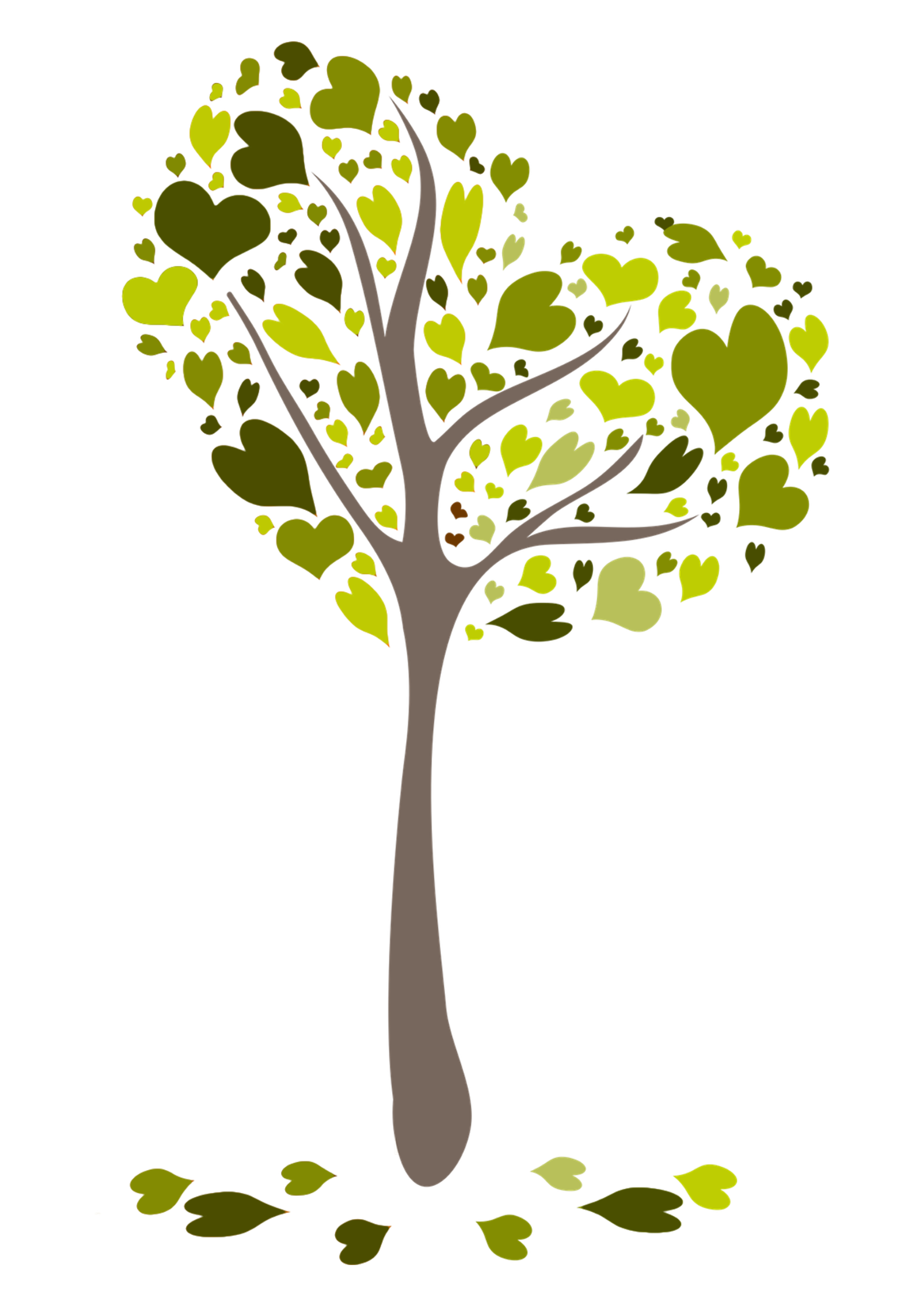 Kerze Herzchenbaum lindgrün