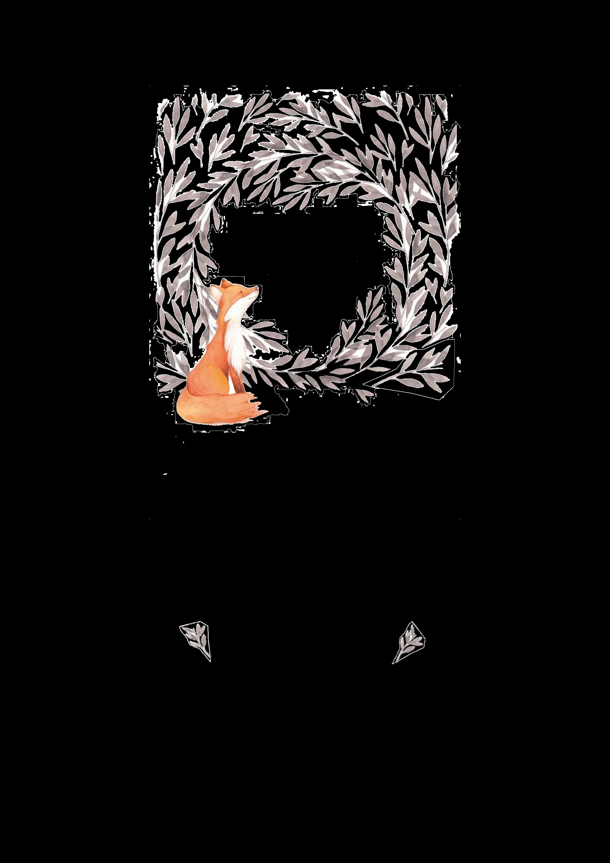 Kerze Fuchs mit Blätterkranz