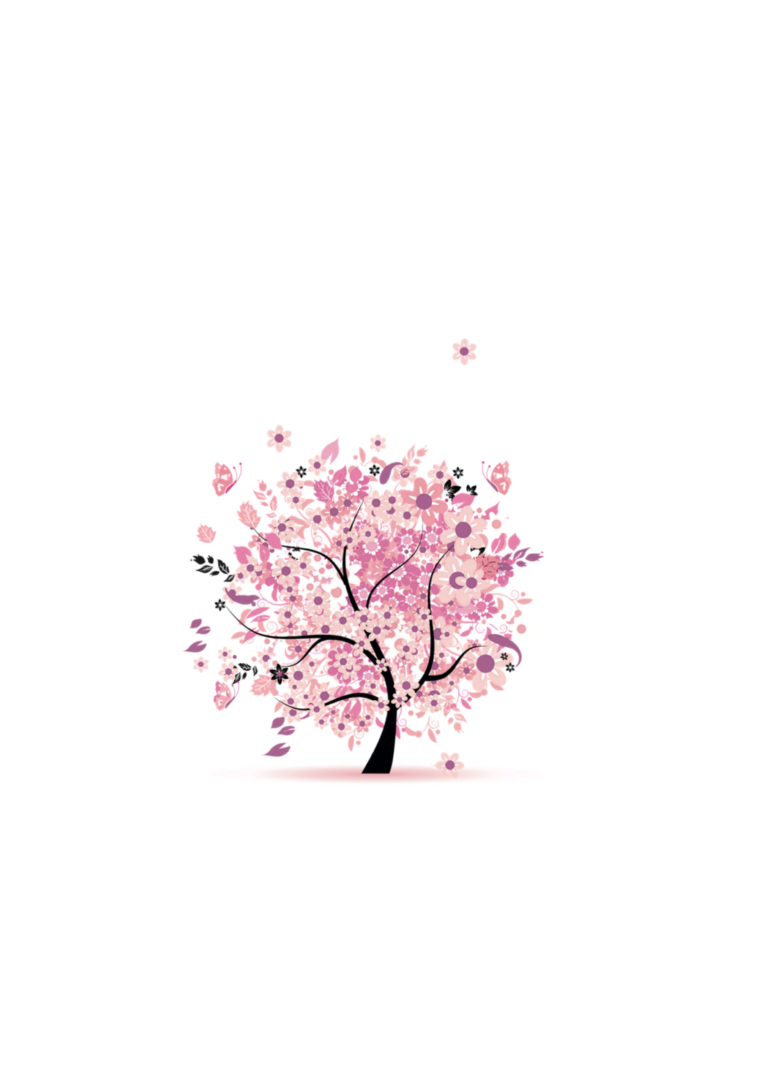 Baum des Lebens Rosatöne Motiv 11