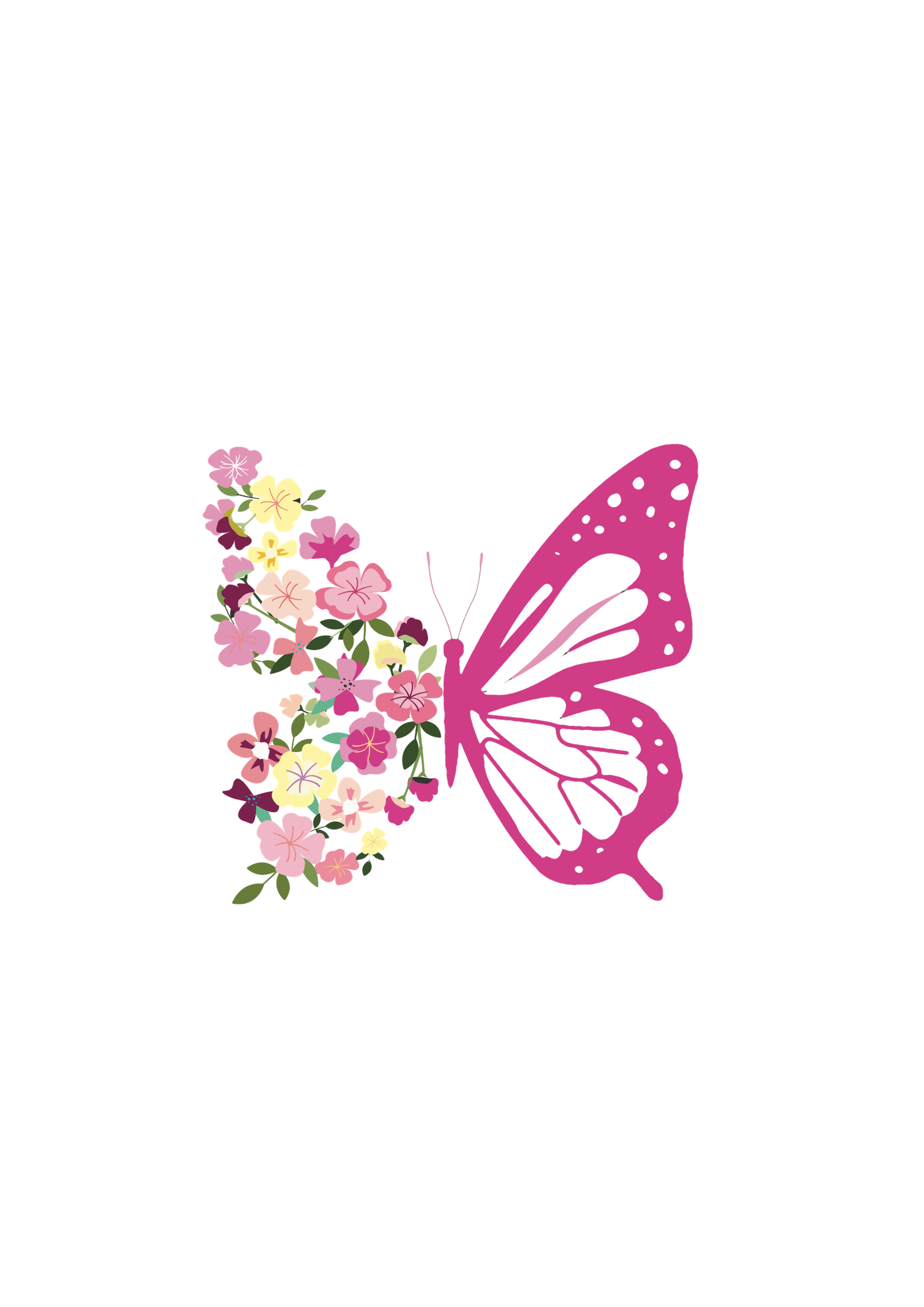 Blüten-Schmetterling Motiv 401