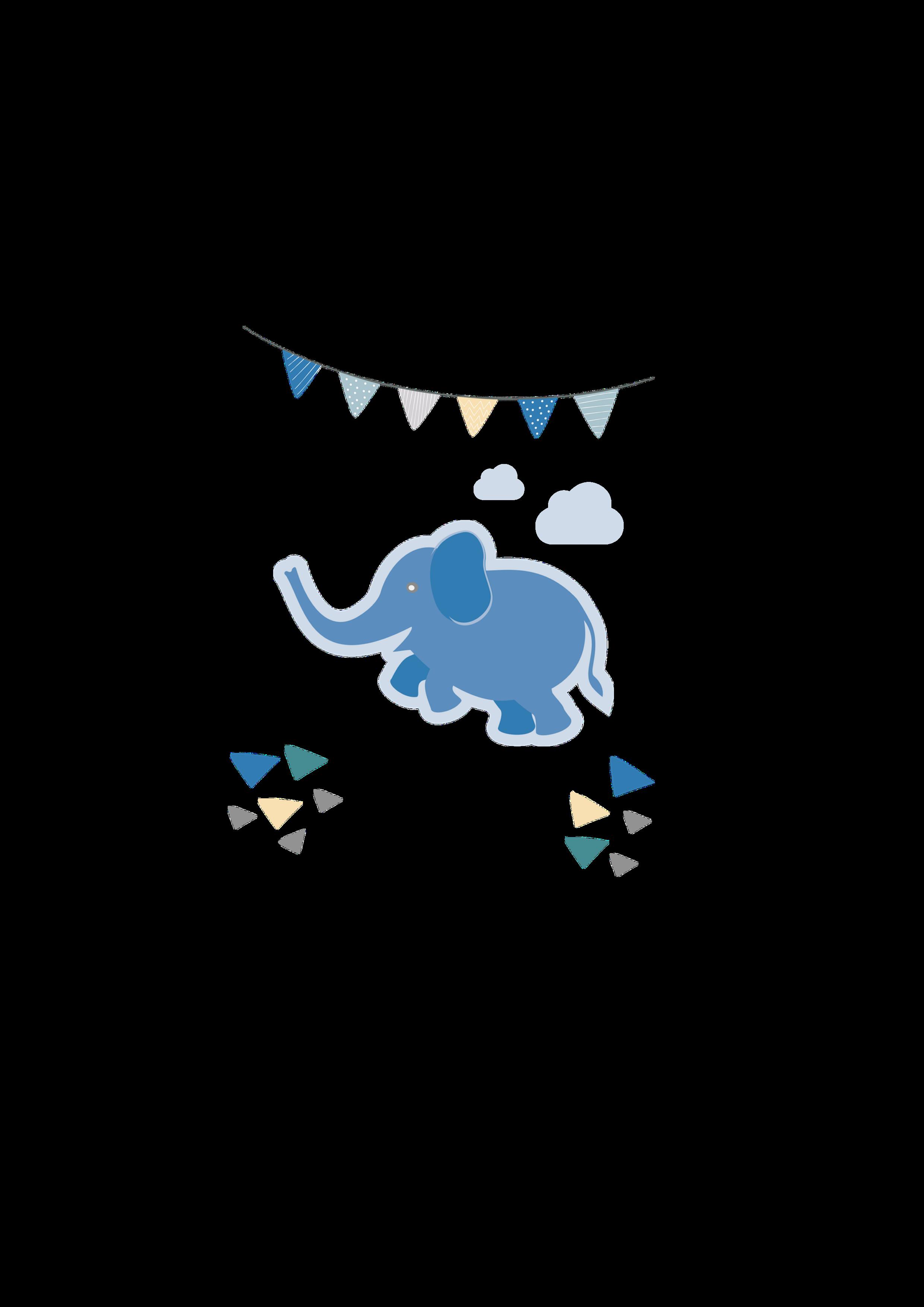 Kerze Elefant blau