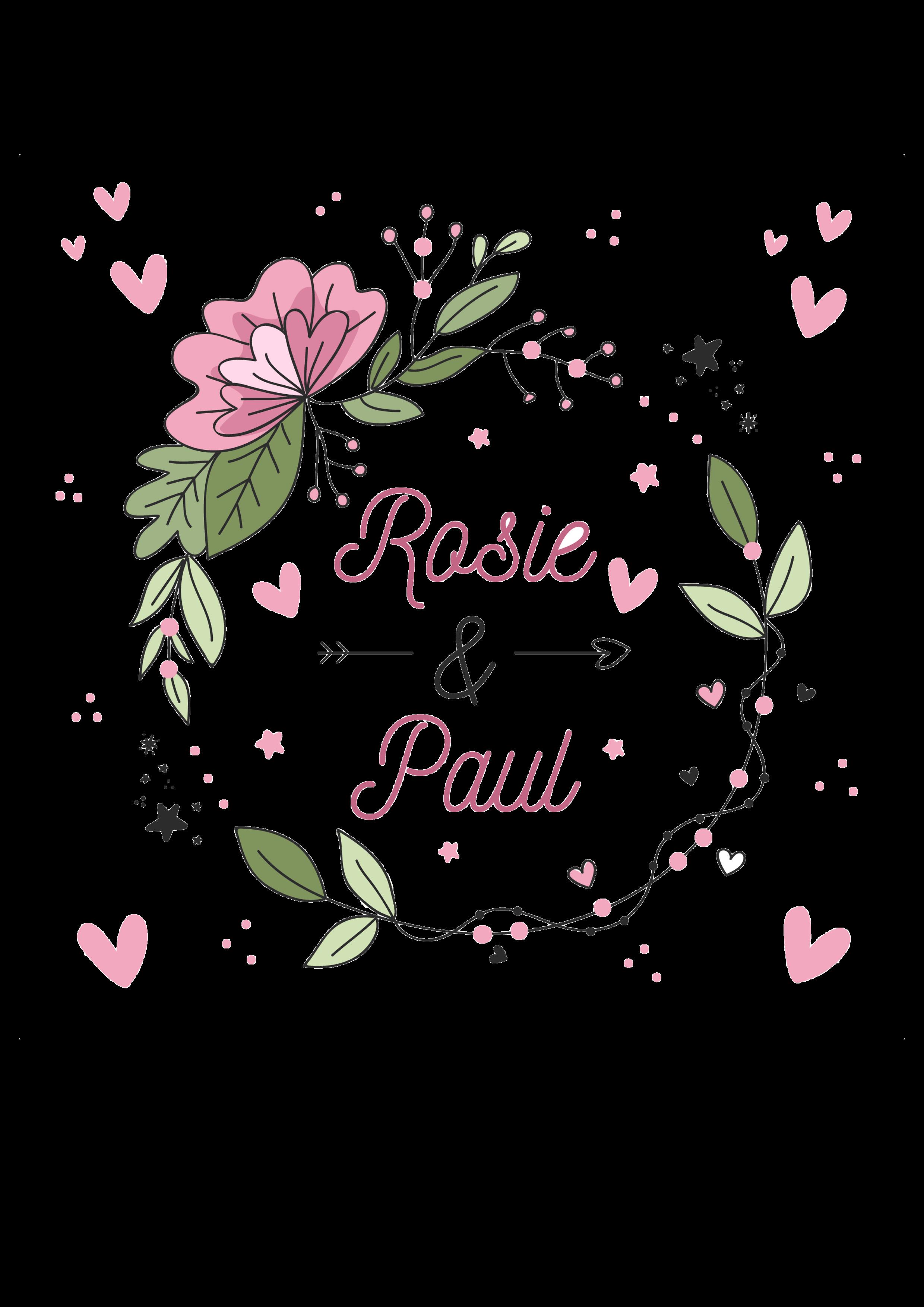 Hochzeitskerze rosa grün mit Herzen