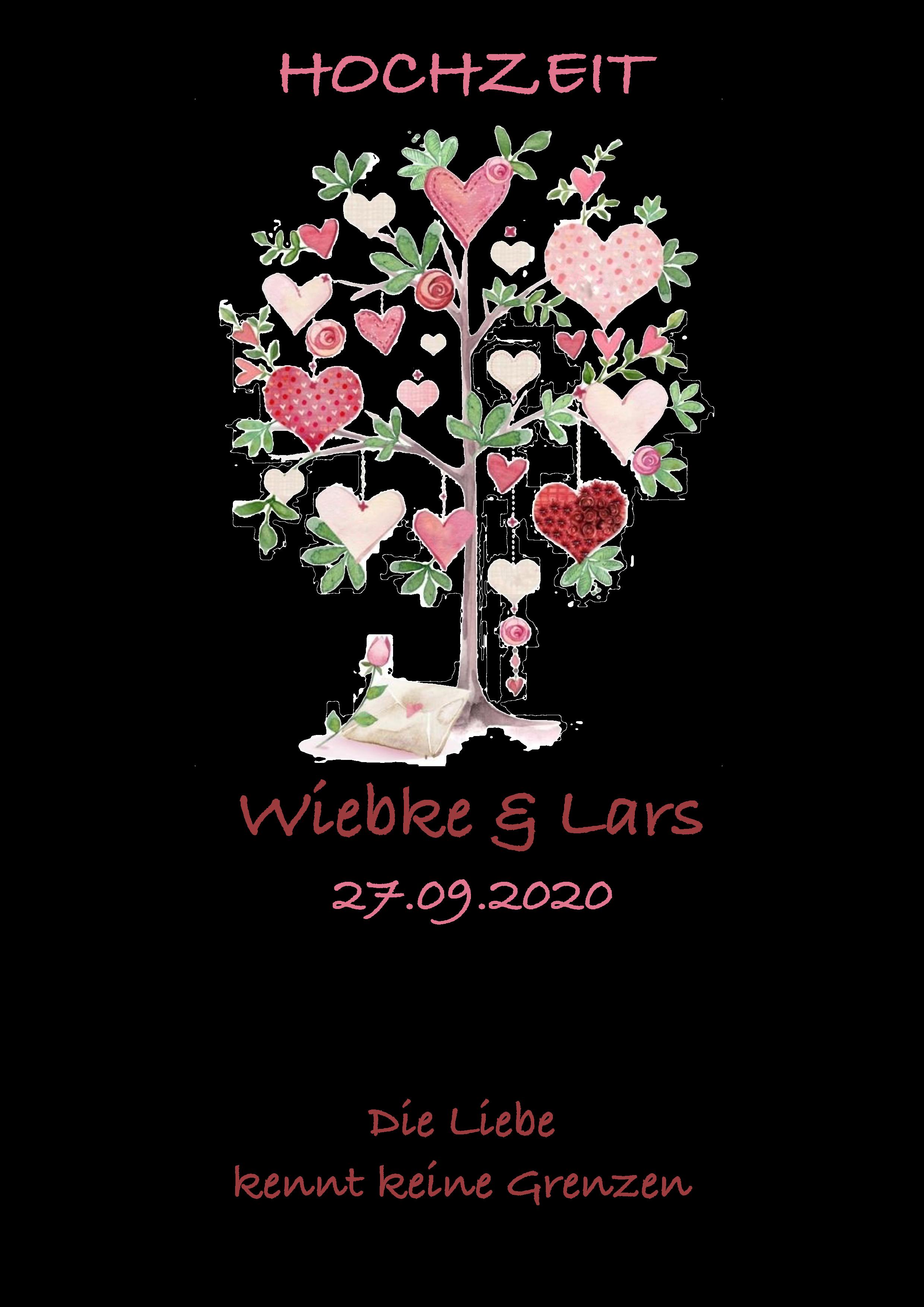 Hochzeitskerze Baum Liebe Herzen