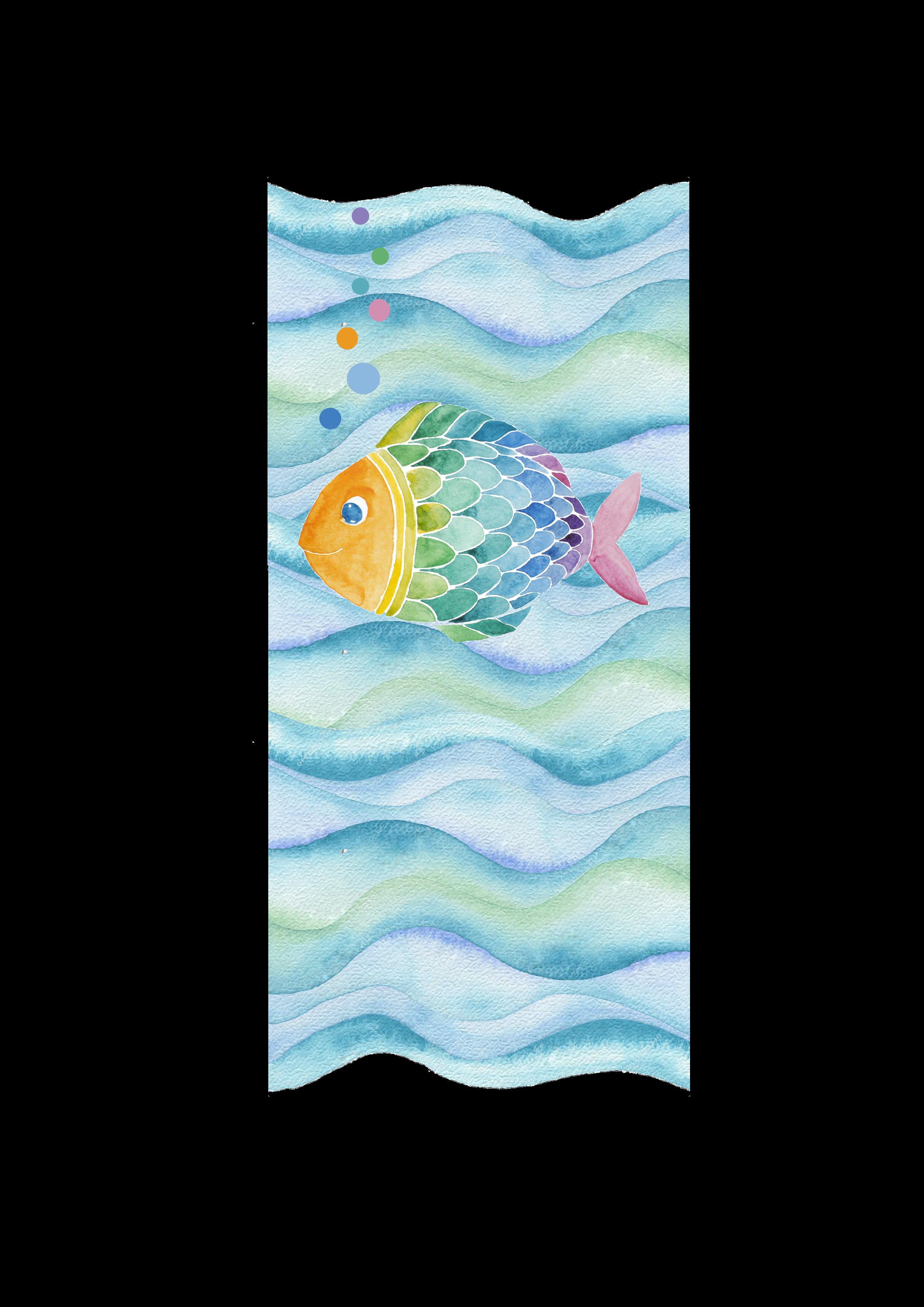 Kerze Regenbogenfisch