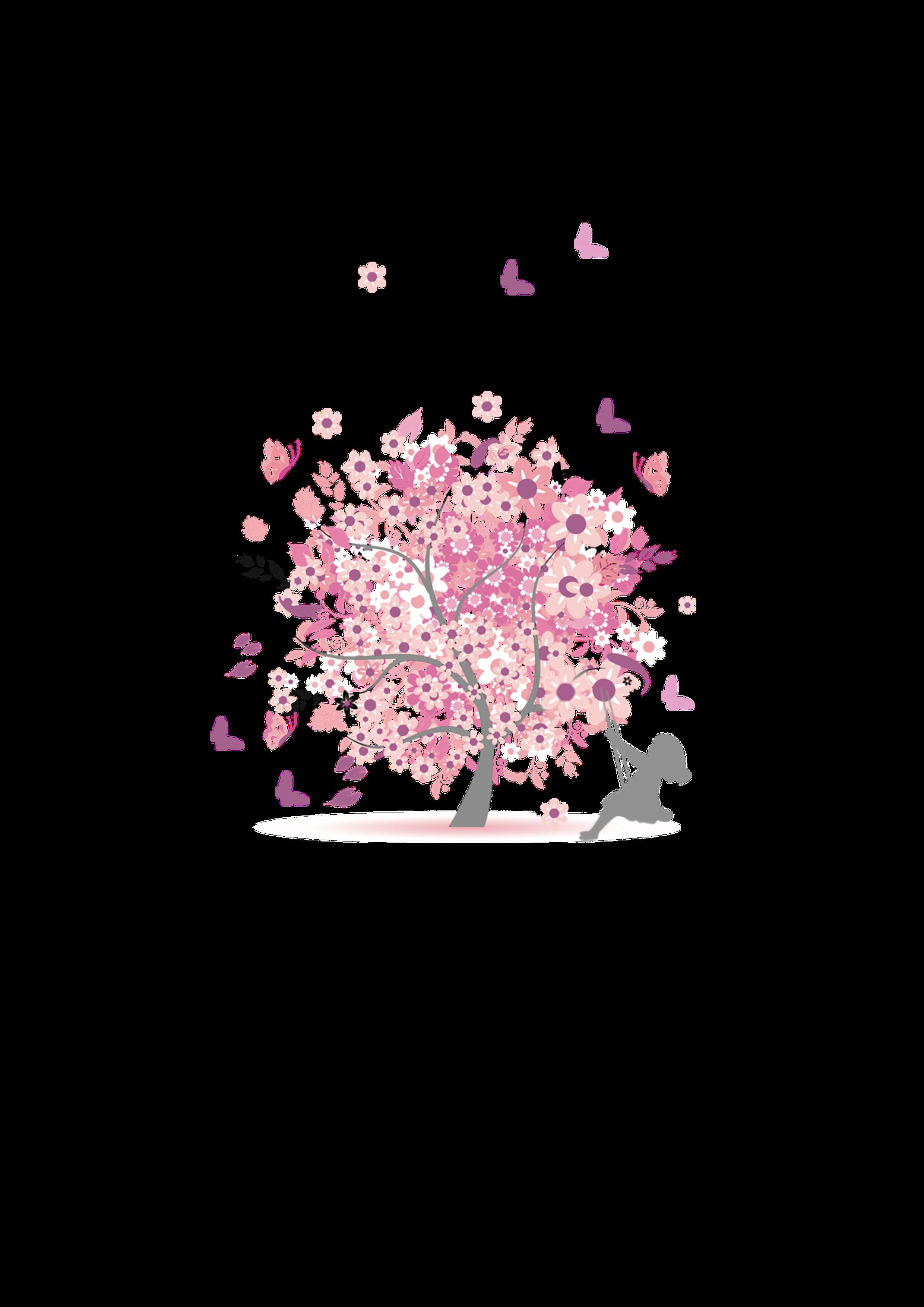 Baum des Lebens mit schaukelndem Mädchen