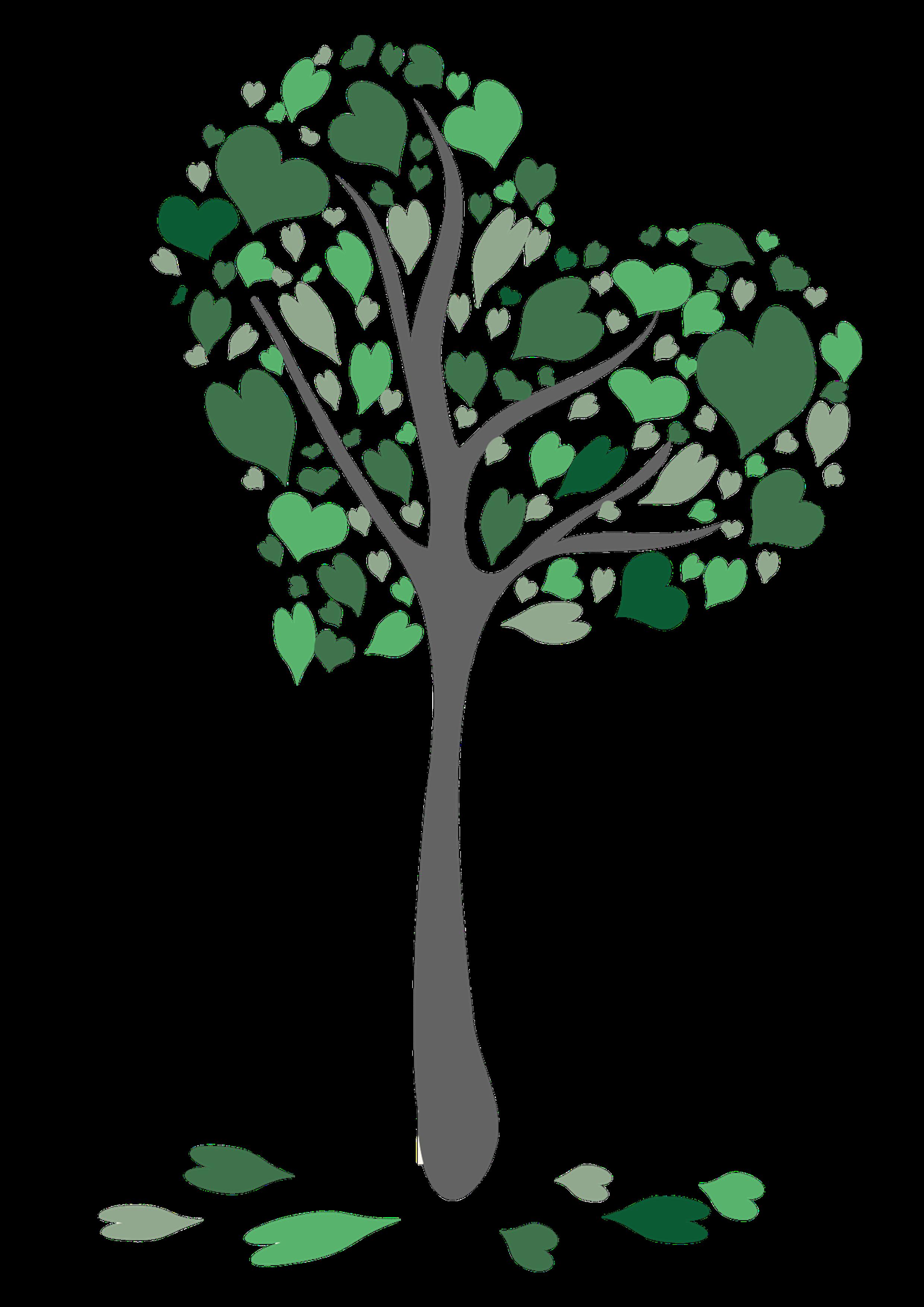 Kerze Herzchenbaum grün